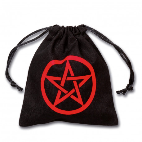 Pentagram Black & red Dice Bag