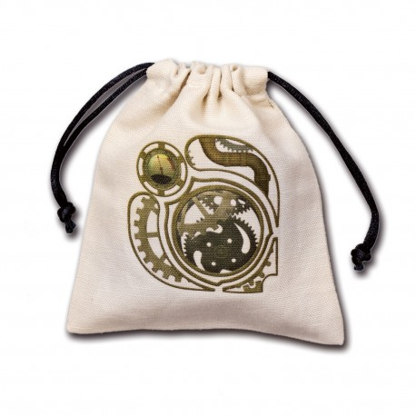 Steampunk Beige and black Dice Bag