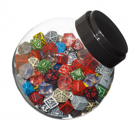 Jar of dice with D6, D10, D20 (150)
