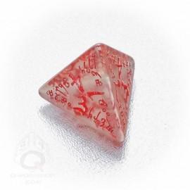 D4 Elvish Translucent & red Die (1)