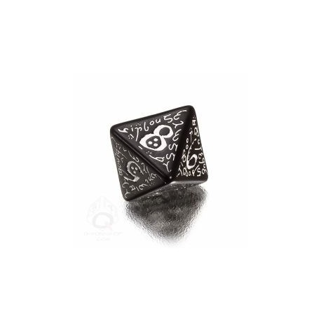 D8 Elvish Black & white Die (1)
