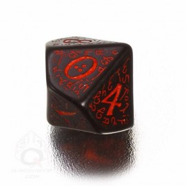 D10 Elvish Black & red Die (1)
