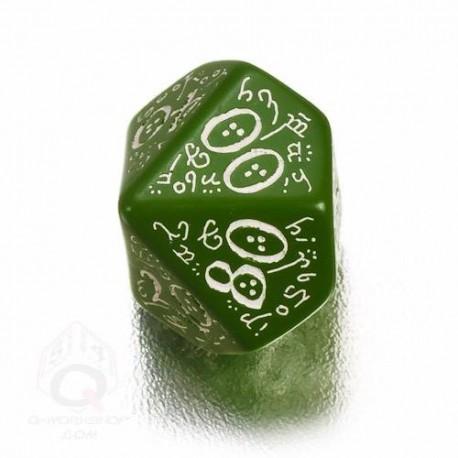 D100 Elvish Green & white Die (1)