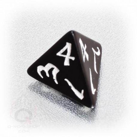 D4 Classic Black & white Die (1)