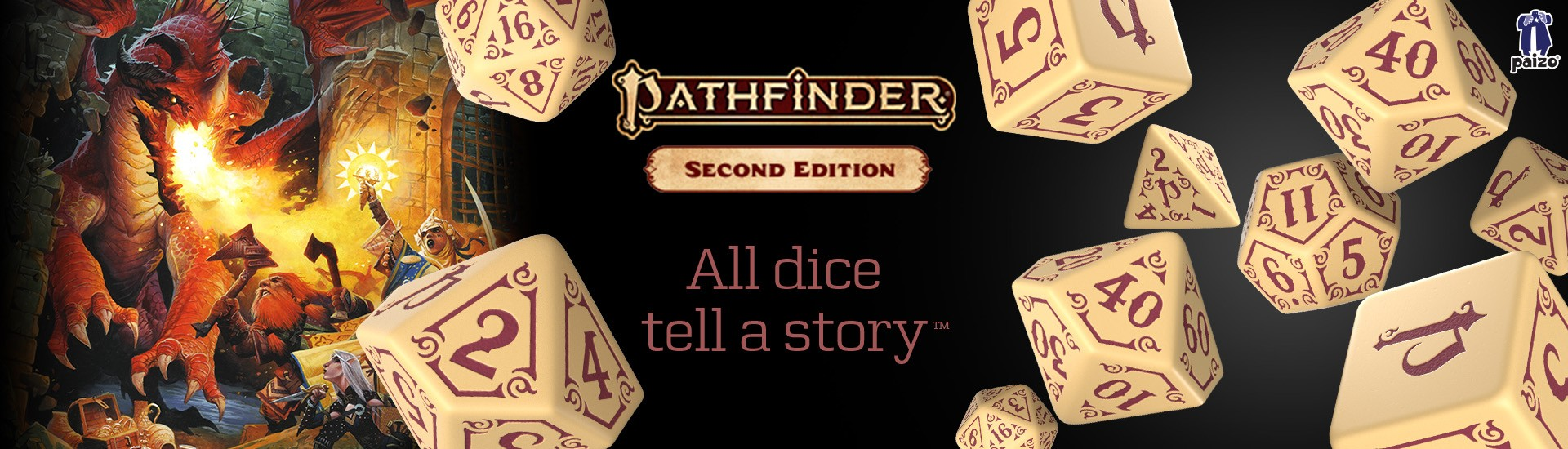 New! Pathfinder Second Edition Dice Set